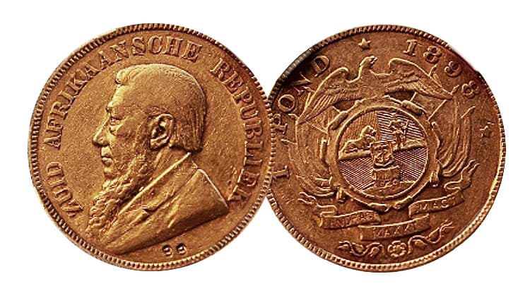 kruger double 9 one pond coin south africa